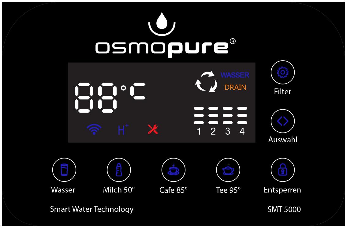 Osmose Auftischgerät-Umkehrosmoseanlage Tischgerät Osmose Tischgerät Wasserbar